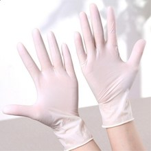10Pcs Disposable Latex Gloves Anti-skid Acid-base Laboratory Rubber Gloves Powdered Easy Slip On/Off Household Cleaning Supplies
