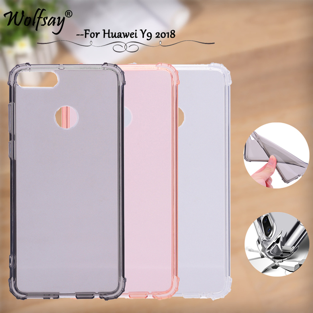 new style 325a4 51efd US $1.69 15% OFF|Aliexpress.com : Buy Transparent TPU Case Huawei Y9 2018  Cover Y 9 2018 Air Cushion Phone Case For Huawei Y8 2018 Cover For Huawei  ...