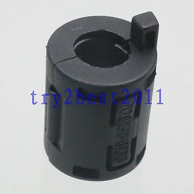 TDK ZCAT 1518-0730 RFI EMI Cable Filter Ferrite Core Clip On 7mm Cable Black 5pcs tdk 13mm clip on rfi emi filter ferrite