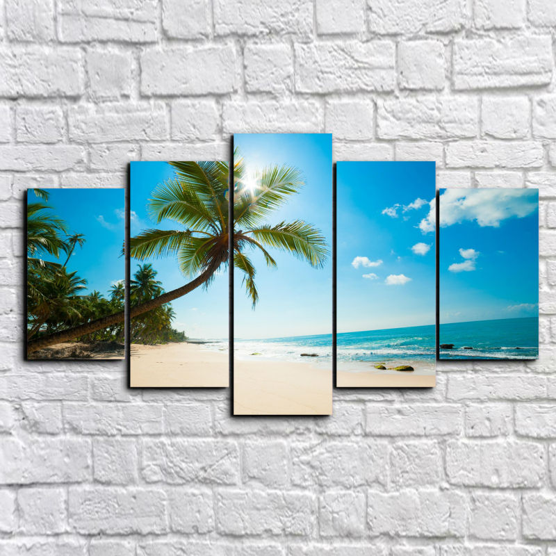 framed art printed pictures beach painting group painting room decor print poster picture canvas wall art