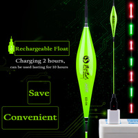 WLPFISHING Intelligent Fishing Float Rechargeable Float Lights On/Off Automatically Composite Platstic Material Fishing Bobbers