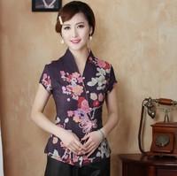 New Fashion Chinese Women's clothing Cotton Blouses Shirt tops Size M L XL XXL XXXL 4XL Free Shipping TD25