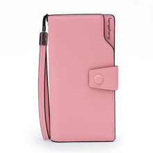 Pink women wallets pu leather