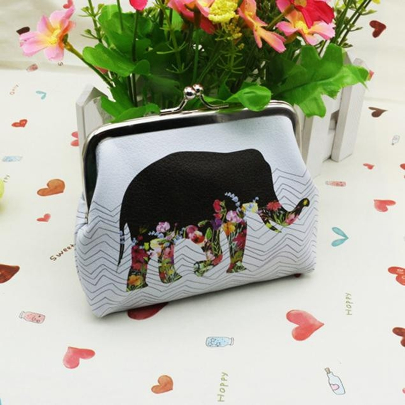 Ladies PU Leather Wallet Classic Retro Small Change Coin Purse Elephant Bag Card Holder Gift girls