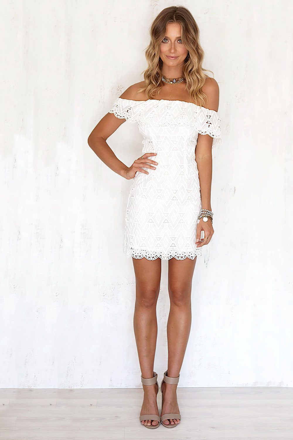 Sexy off the Shoulder White Lace Dress Women Casual vestido de festa feminino Monos Summer Style High Slit Party Boho Dresses 9