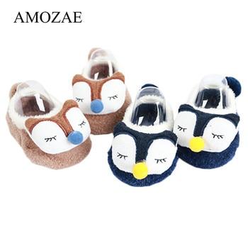 Unisex Newborn Animal Pattern Infant Cute Foot Socks Anti-Slip Baby Boy Girl With Soft Soles