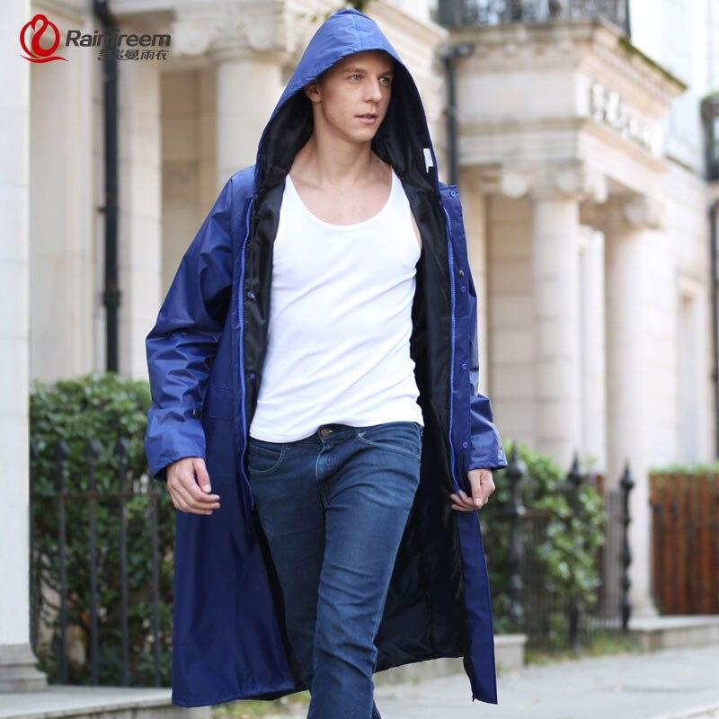 Rainfreem Waterproof Men Raincoat Fashion Rain Jacket Poncho Plus Size S-6XL Fishing Rainwear Motorcycle Hooded Rain Gear