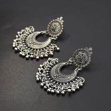 Ethnic Bali Jhumka Jhumki Gold Brocade Lotus Mexico Gypsy Dangle Earrings Silver Afghan India Tribal Nepal Tibet Turkish Jewelry bocai silver makeup india nepal bali silver acts the role of by hand rainbow blue moon stone ring