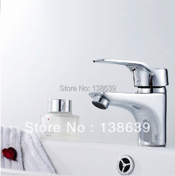 free shipping classic single handle basin mixer faucet2014 new design bathroom water tap