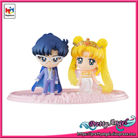 PrettyAngel Genuine Megahouse Pretty Guardian Sailor Moon Petit Chara! Neo Queen Serenity & King Endymion Toys Figure Set