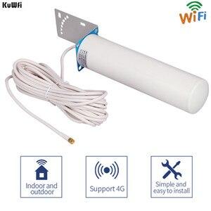 Image 2 - KuWFi 3G/4G LTE Antenna SMA maschio 2.4Ghz Antenna esterna 3GBooster Antenna con cavo per ripetitore ripetitore segnale GSM Wifi Rout