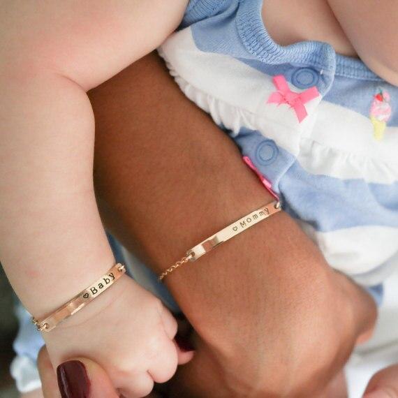 baby armband rosegold