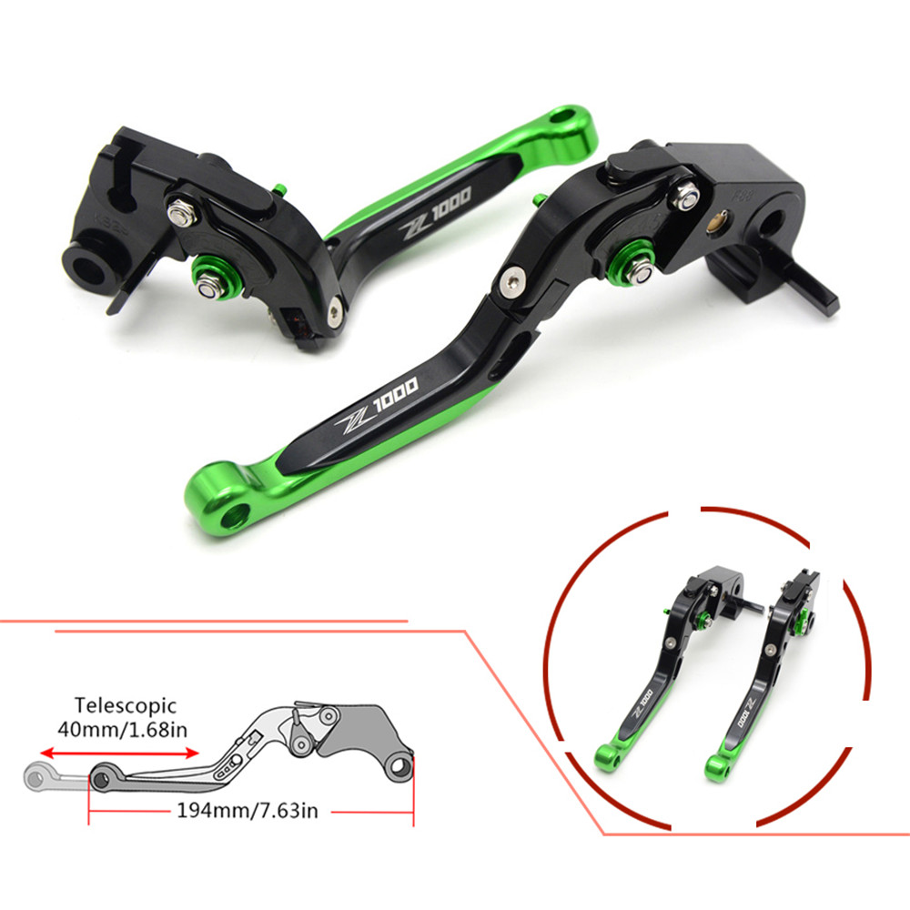 CNC Motorcycle Front Brakes Clutch Levers Adjustable Folding Extendable For Kawasaki Z1000 2003 2004 2005 2006 03 04 05 06 motorcycle adjustable brake clutch levers 7 8handlebar hand grips handlebar for kawasaki z1000 2003 2004 2005 2006