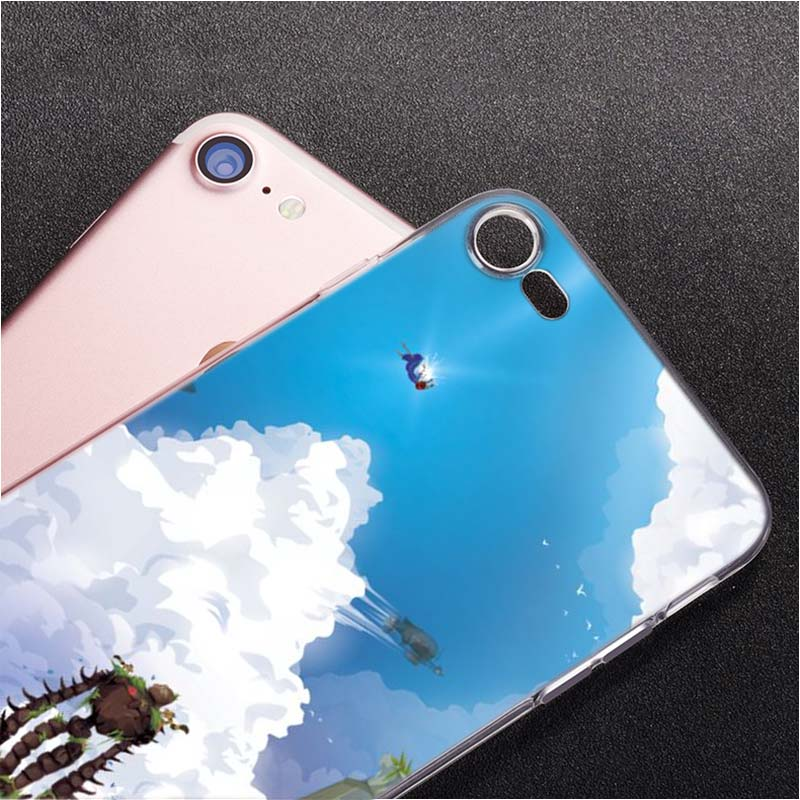 Transparent Soft Silicone Phone Case Laputa Castle in the Sky for iPhone XS X XR Max 8 7 6 6S Plus 5 5S SE in Fitted Cases from Cellphones Telecommunications