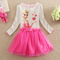 Elsa dress nuevo 2016 niños moda casual niñas bebés vestidos de verano elsa anna vestido de ropa para niños