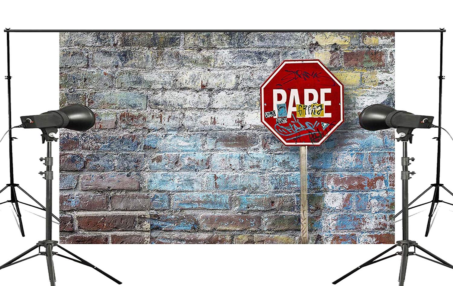 5x7ft Brick Photography Background Street Sign Backdrop Studio Theme Wall Foldable Cloth in Photo Studio Accessories from Consumer Electronics