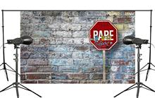 5x7ft Brick Photography Background Street Sign Backdrop Studio Theme Wall Foldable Cloth sign of street i