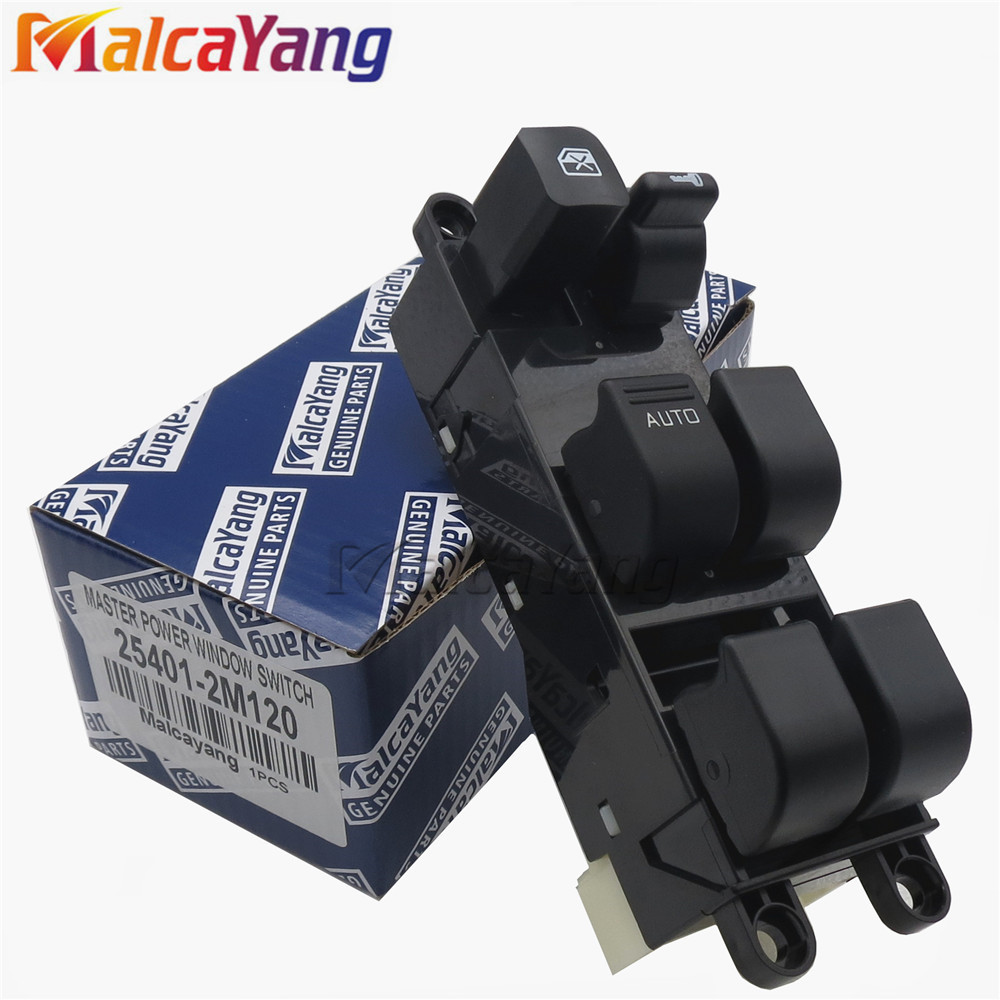Power window lifter master control switch 25401 2m120 254012m120 for nissan navara bluebird sunny primera pickup truck b14 d22