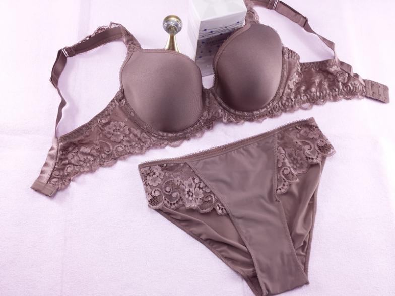 Plus Size Bra Set 3D Air Mesh Breath Underwear Full Cup Minimizer Women Lingerie Lace Intimates Ladies Bra and Panty Set Quality 6
