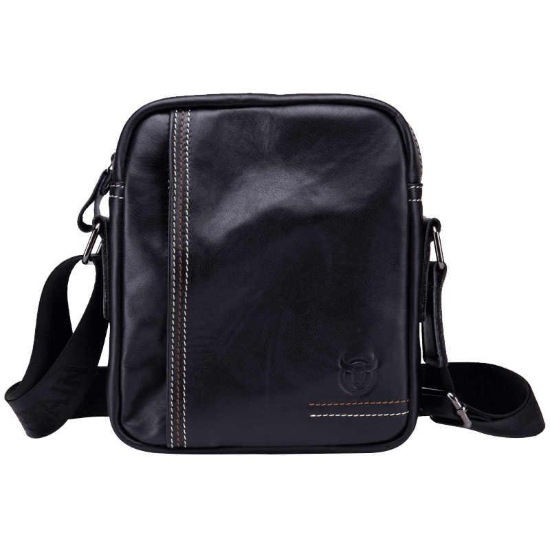 100% couro genuíno saco do mensageiro dos homens pequena bolsa de ombro de couro de vaca para o sexo masculino moda homem bolsas do vintage
