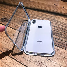 2019 Luxo Caso Magnetica Para iphone XR XS Max X iPhone 5 6 S 5S 5SE 7 8 Plus Alem Tampa Telefone Movel vidro temperado(China)