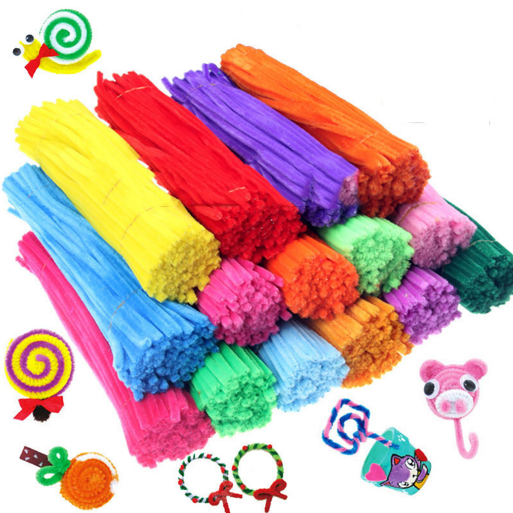 Toys For Children 100pcs Montessori Materials Chenille Puzzle Wooden Toys Crafts Pipe Cleaner Stuffed Kids Toys Toy Puzzles garden hose connector with hoses washer 4 way heavy duty hose tap splitter shut off knobs faucet for irrigation lawns