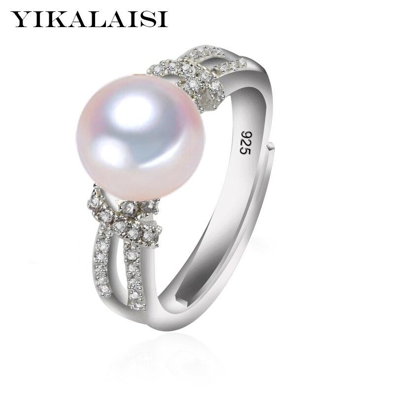 a803b068969c ... natural 8-9mm anillos de perlas 2017 Nuevo de moda. Cheap Yicalaisi 925  joyería de plata de ley para mujeres 100% joyería de perlas de