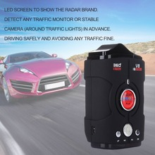 Multi Function Car Radar Detector V8 360 Degree Bilingual Voice Warning Laser Alarm 16-Band LED Display Tools