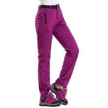 Уличные женские мужские толстые теплые флисовые софтшелл брюки для рыбалки, кемпинга, походов, лыжного спорта водонепроницаемые ветрозащитные брюки