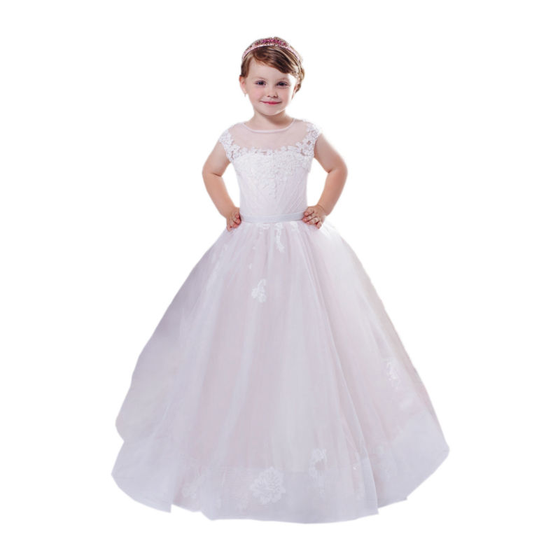 Long Flower Girls Dresses For Wedding Gowns Lace Girl Birthday Party Dress A-Line Mother Daughter Dresses Pageant Dress a line flower girls dresses for wedding gowns lace girl birthday party dress glitz pageant dresses