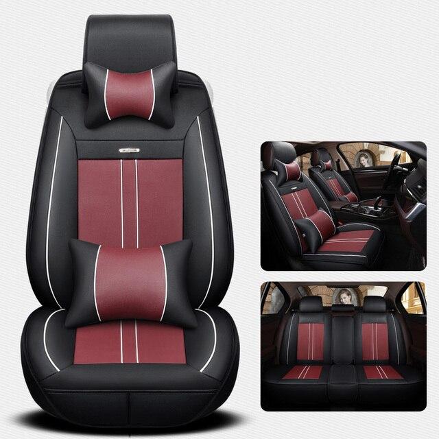 Car Seat Cover Auto Seats Covers Leather For Fiat Punto Evo Panda 500 Linea Bravo Brava