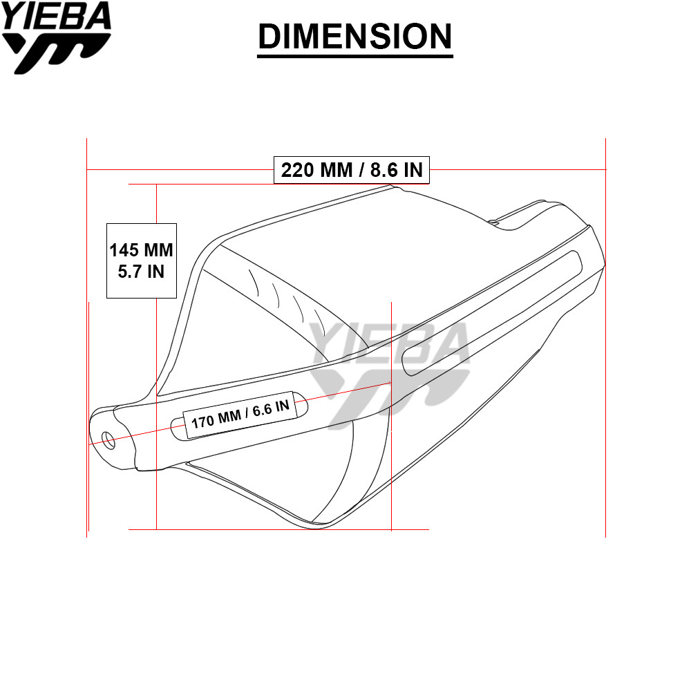 Motorcycle Modification Plastic Handlebar Protector Hand Wind Guards Kawasaki Kx250f Wiring Diagram For 450f Klx125d Tracker125 Yfz450 Tricker In Falling Protection From