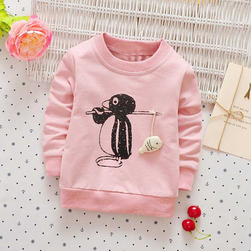 Autumn-spring-Children-clothing-girls-boys-babys-Cartoon-Penguin-print-o-neck-long-sleeve-t-shirt-Y2468-3