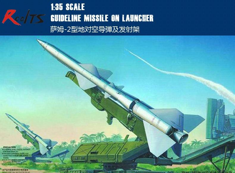 RealTS Trumpeter 00206 1/35 SA-2 Guideline Missile on Launcher Plastic Model Kit trumpeter model 05106 1 35 as365n2 dauphin 2 plastic model kit