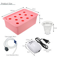 11 Holes Plant Site Hydroponic System 110V 220V Indoor Garden Cabinet Box Grow Kit Bubble Garden