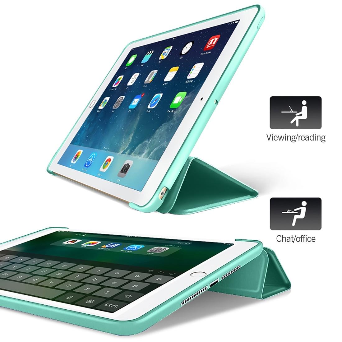 Hoesje voor iPad Mini 4 3 2 1 Case PU-leder Silicon Soft Back Trifold - Tablet accessoires - Foto 5