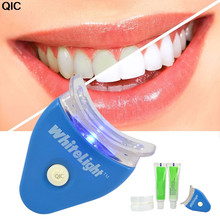 QIC Dental Teeth Whiten With Battey White LED Light Tooth whiting Gel Whitener Oral Toothpaste Kit Personal Mouth Health Care(China)