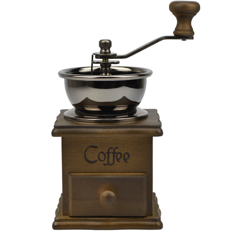 Newest Manual Coffee Bean Grinder Hand Coffee Mill Retro Wood Design Coffee Hand Mill As a Gift ...