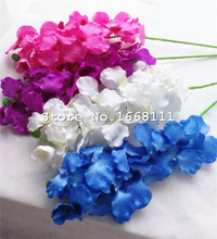 10pcs Fake Vanda Orchids 11 Heads 95cm/37.4 Artificial Phalaenopsis Butterfly Moth for Wedding Decorative Flower