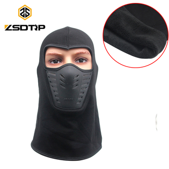 ZSDTRP Fleece Balaclava Motorcycle Face Mask Outdoor Motor Helmet Warm Winter Car Bandana Hood Ski Sport Neck Full Face Mask