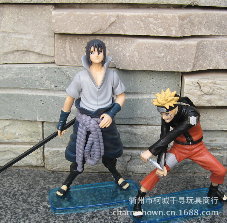 2pcs/set Naruto Uchiha Sasuke Uzumaki Naruto Action Figures Anime PVC brinquedos Collection Figures toys AnnO00614N 50 percent off stainless steel gate door wall suction magnetic p41 strong resistance