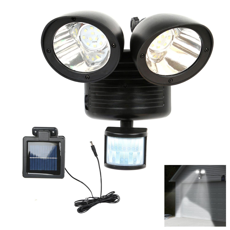 22 LED مزدوج الأمن كاشف مصباح يعمل بضوء الشمس محس حركة ضوء غامر خارجي