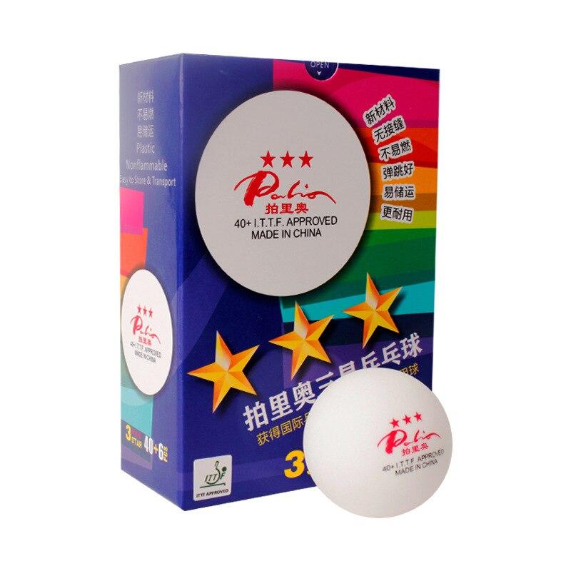 6 Boules Palio 40 + Sans Soudure 3-Star Tennis De Table Boules En Plastique Nouveau Matériel Poly Ping-Pong Balles ITTF Approuvé