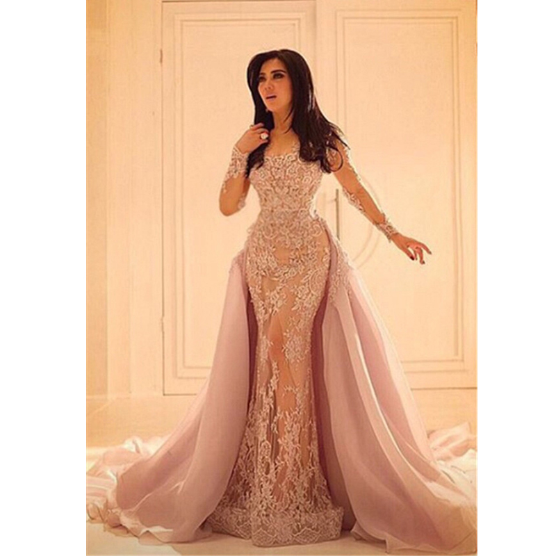 Discount Couture Dresses: Pink Mermaid Evening Dresses 2017 Cheap Formal Dress Long