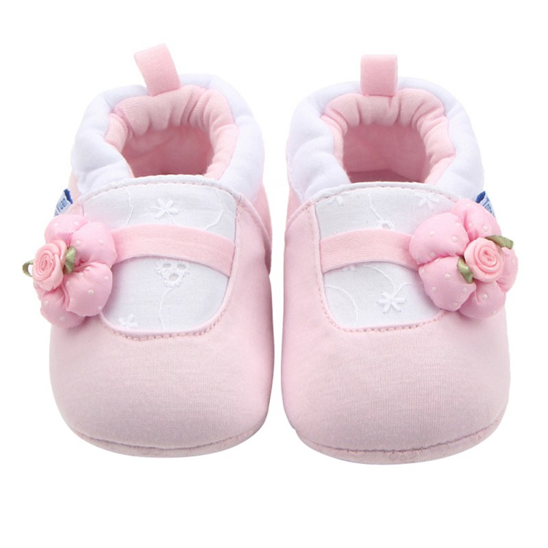 Latest Cartoon Baby Shoes Soft Sole Cotton Toddler Infant Lovely  Blue Whale/Pink Flower Kids Shoes
