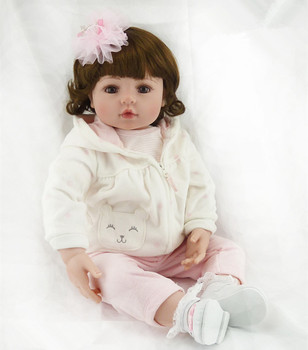 60cm Doll Silicone Reborn Handmade Realistic Baby Dolls 24 Inch Bebe Reborn Babies Toys for Children Gift Juguetes Brinquedos fashion dollmai bebe reborn dolls 3 4 silicone babies 58cm very beautiful girl for children xmas gifts realistic simulation toy