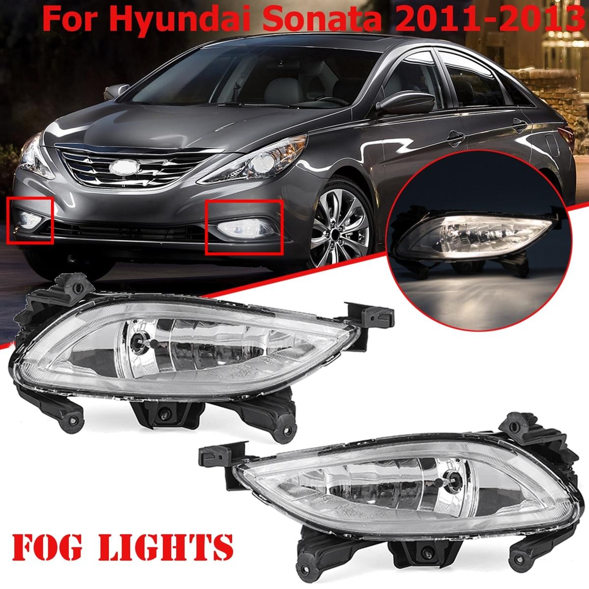 1 Pair Front Halogen Fog Lights Lamps Turn Signal Light Front Bumper Fog Light for Hyundai Sonata 2011 2012 2013 for lifan x60 turn signal light bar lights x60 suv front fog lamp