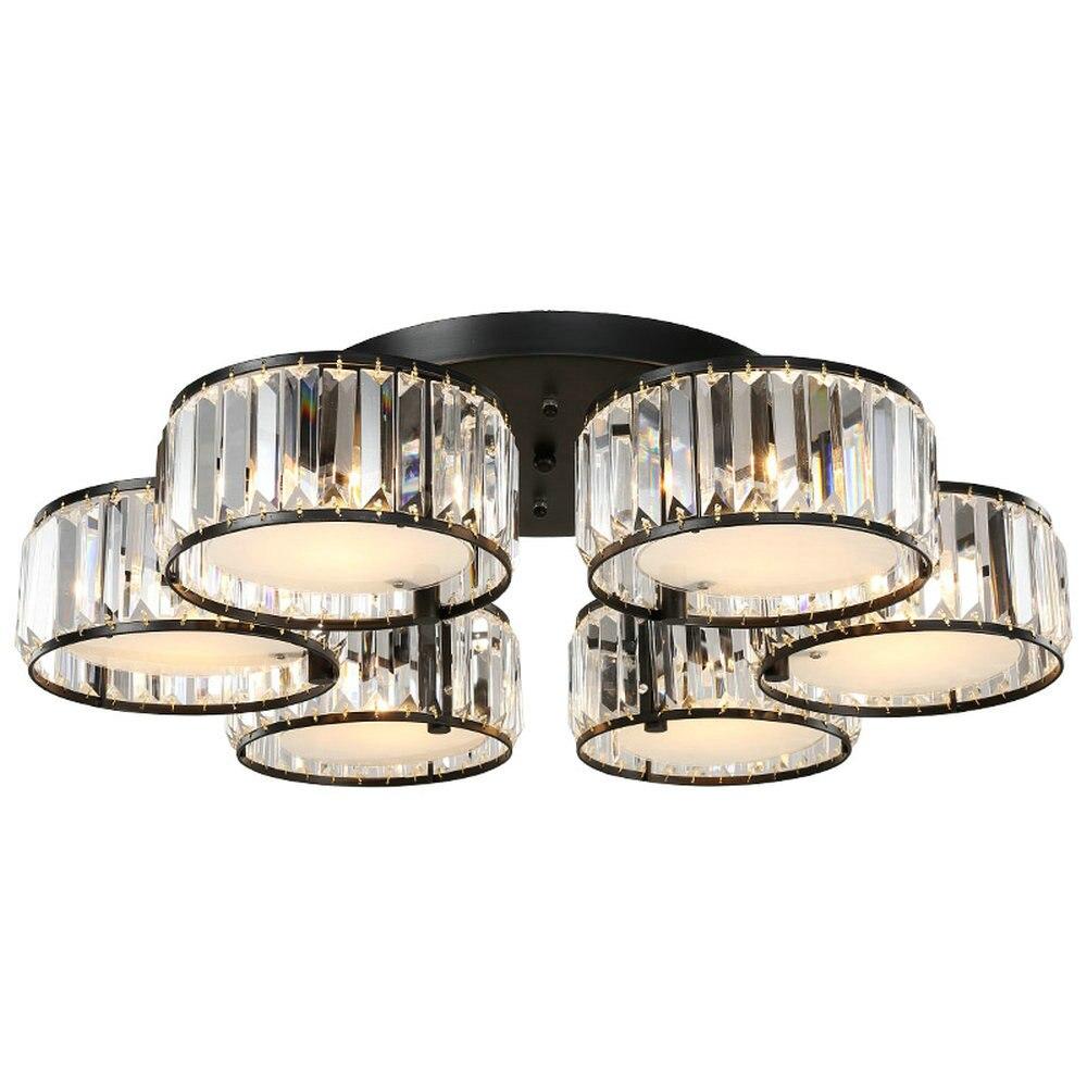 Moderne Cristal Celling Lumière K9 Cristal Plafon Led Acrylique Lampe Plafond lumières pour Salon E27 3 5 6 7 Lumière Led lampe