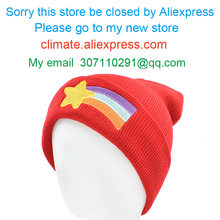 CLIMATE Girls Women Winter Hat Beanie Gravity Falls Mabel Pines Hat Mabel Dipper Warm Knit Beanie Red Star Anmation Nice Red Hat(China)