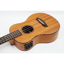 26 tenor Mahogany solid wood electric ukulele 4 Strings  Hawaii mini small guita travel acoustic guitar ukelele Uke kmise tenor ukulele mahogany ukelele 26 inch uke aquila string 4 string hawaii guitar